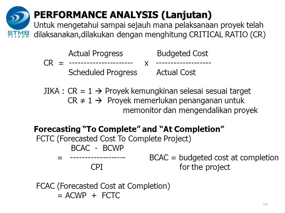 PERFORMANCE ANALYSIS (Lanjutan)