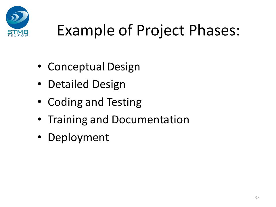 Example of Project Phases: