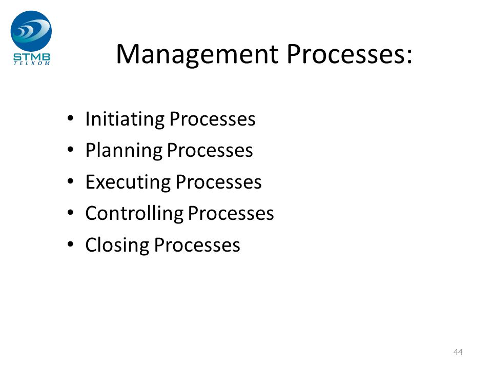Management Processes: