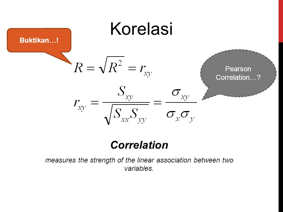 measures the strength of the linear association between two variables.