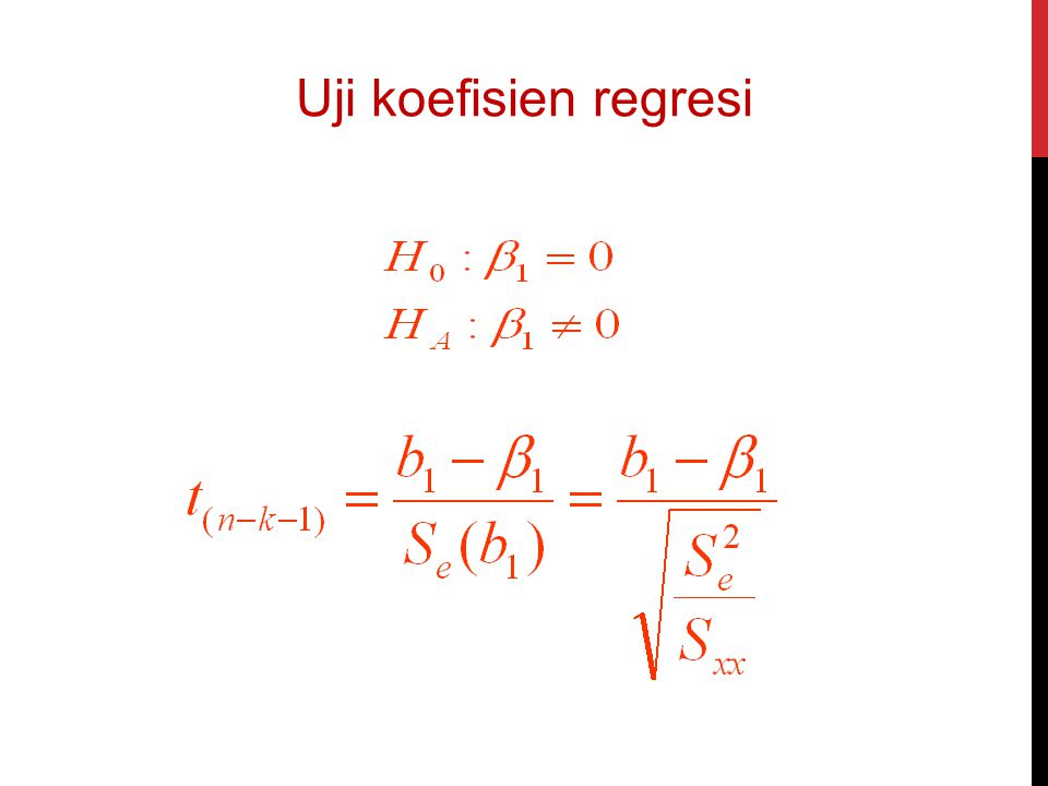 Uji koefisien regresi