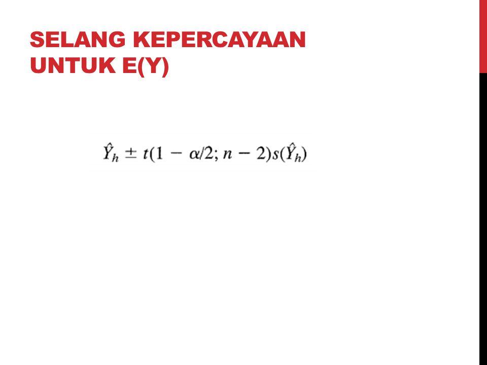 Selang kepercayaan untuk E(Y)