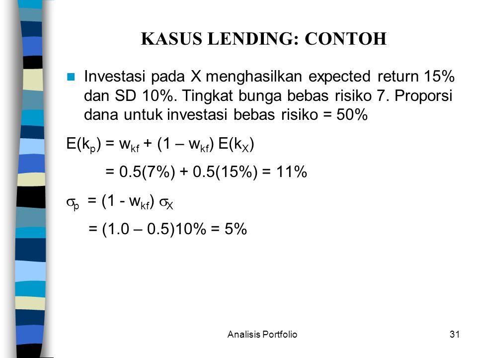 KASUS LENDING: CONTOH
