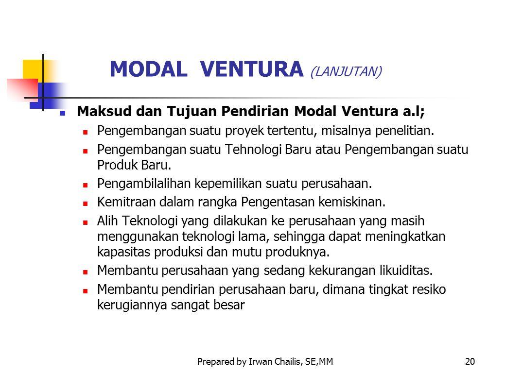 MODAL VENTURA (LANJUTAN)