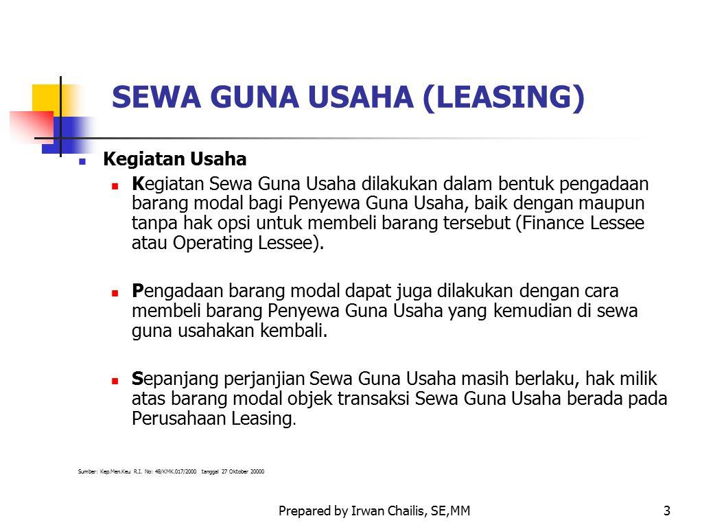 SEWA GUNA USAHA (LEASING)