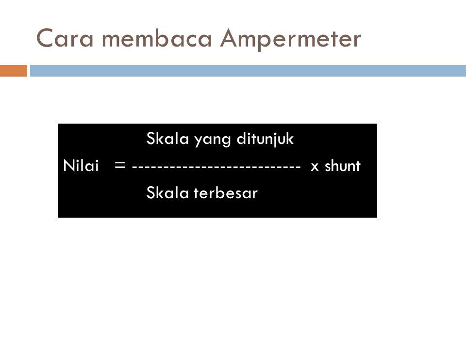 Cara membaca Ampermeter