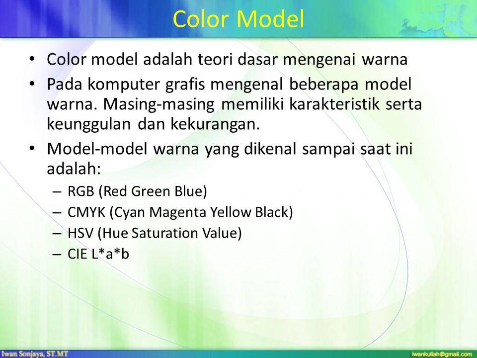 Color Model Color model adalah teori dasar mengenai warna