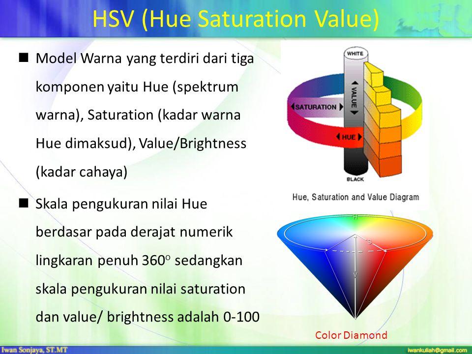 HSV (Hue Saturation Value)