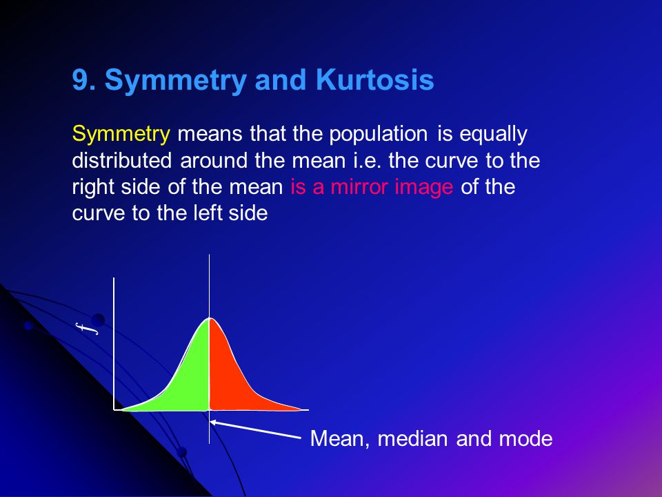 9. Symmetry and Kurtosis ƒ