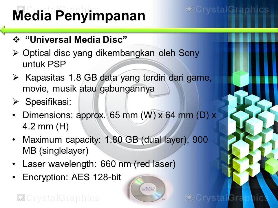 Media Penyimpanan Universal Media Disc
