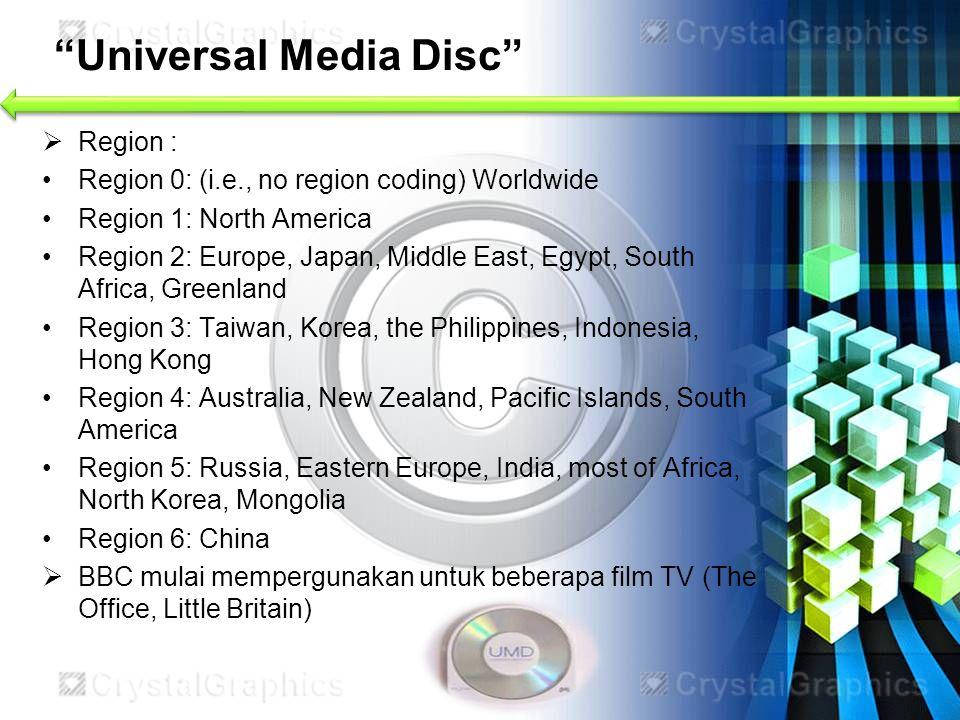 Universal Media Disc