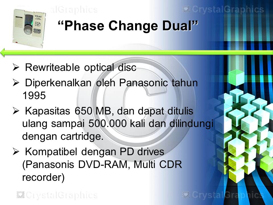 Phase Change Dual Rewriteable optical disc