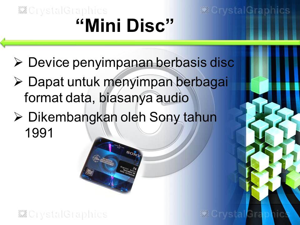 Mini Disc Device penyimpanan berbasis disc