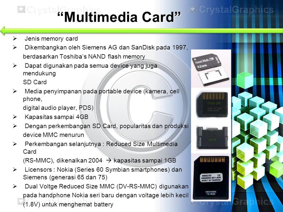 Multimedia Card Jenis memory card