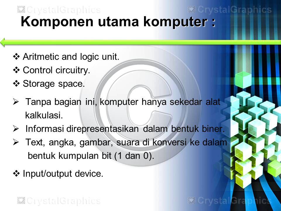 Komponen utama komputer :