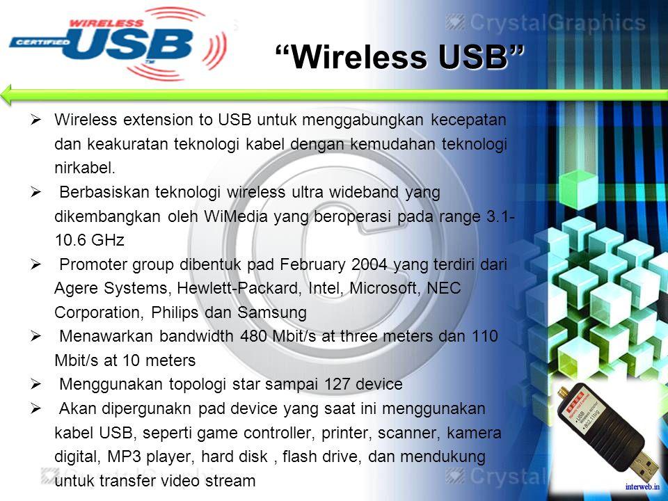 Wireless USB Wireless extension to USB untuk menggabungkan kecepatan