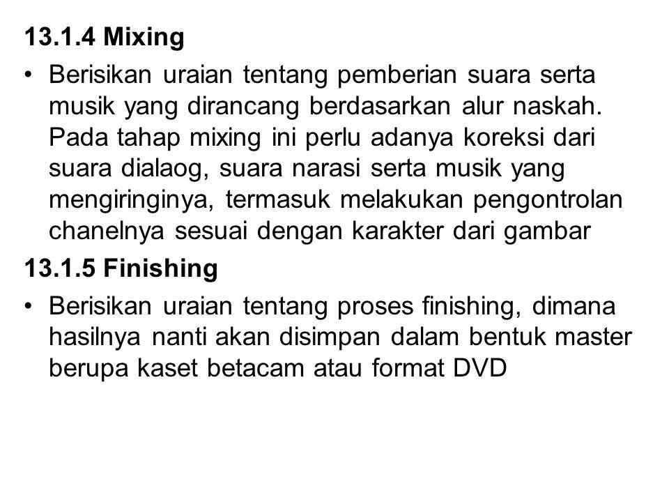 13.1.4 Mixing