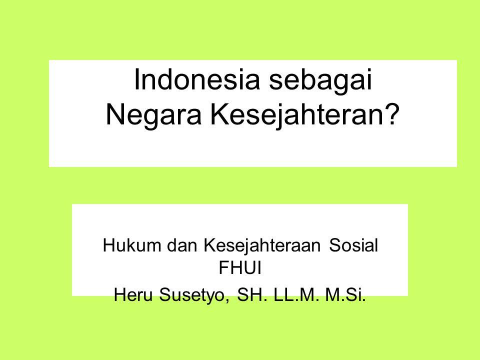 Indonesia sebagai Negara Kesejahteran