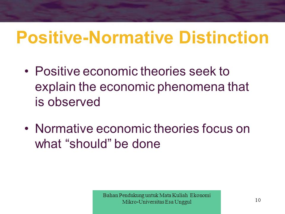 Positive-Normative Distinction