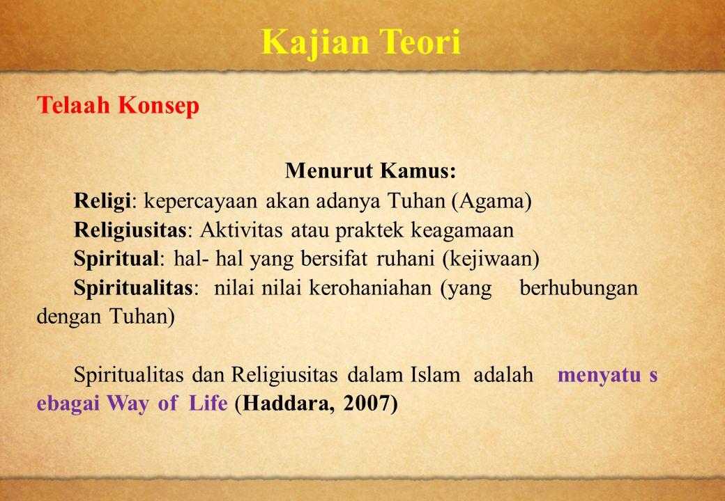 Kajian Teori Telaah Konsep Menurut Kamus: