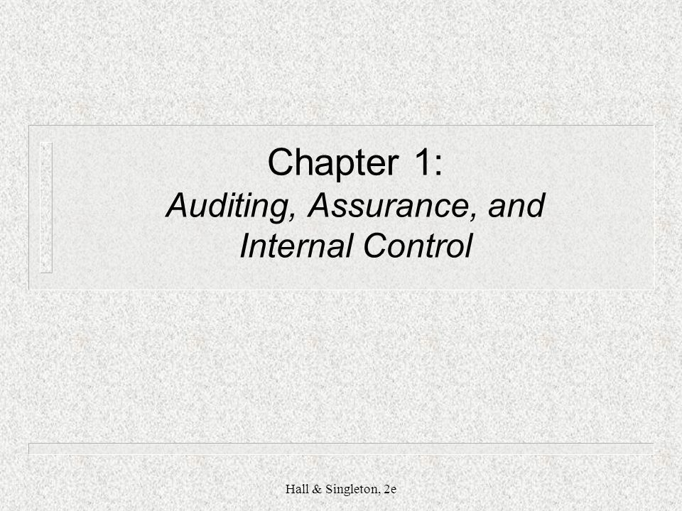 chapter 7 notes auditing and assurance