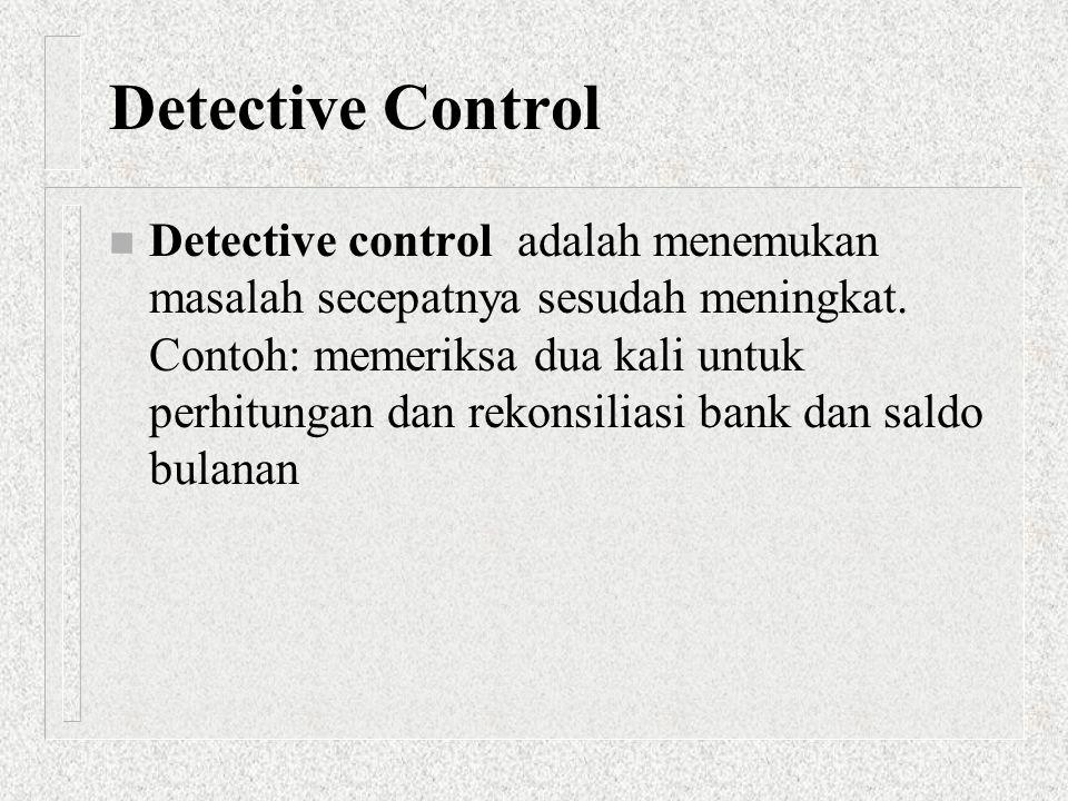 Detective Control