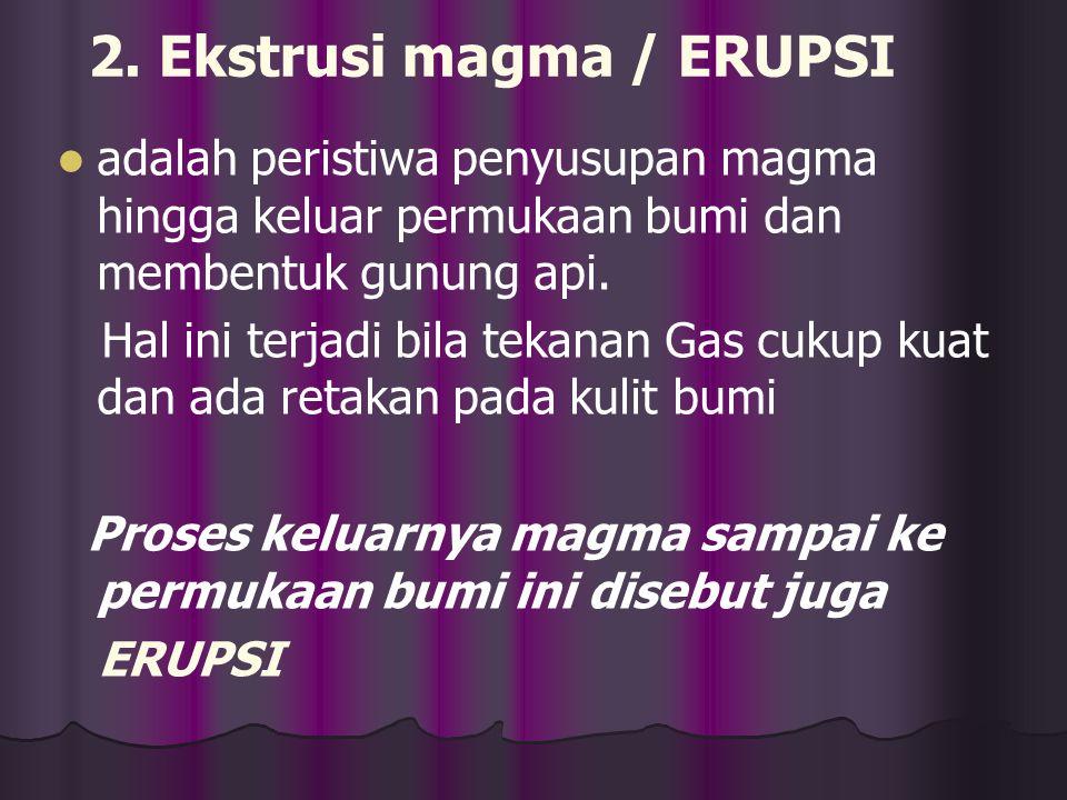 2. Ekstrusi magma / ERUPSI