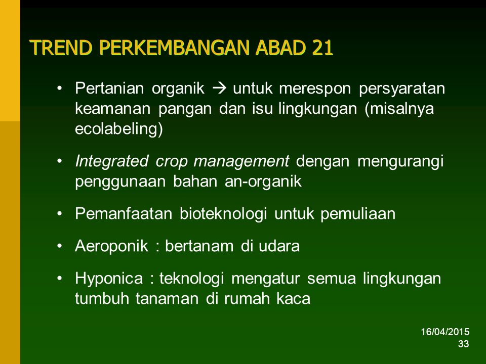 TREND PERKEMBANGAN ABAD 21