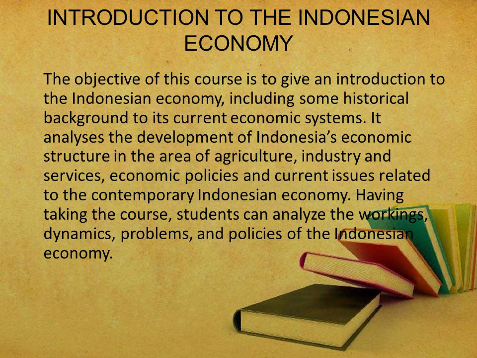 INTRODUCTION TO THE INDONESIAN ECONOMY