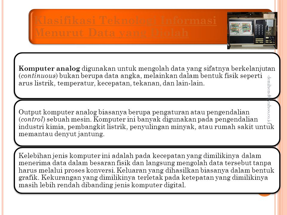 Klasifikasi Teknologi Informasi Menurut Data yang Diolah