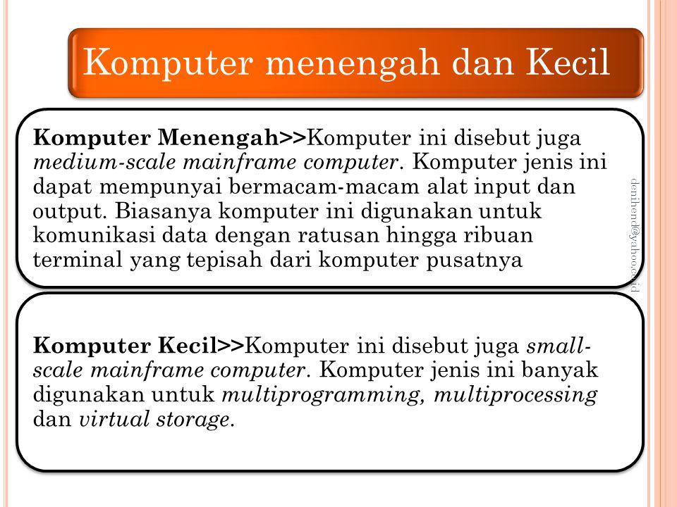 Komputer menengah dan Kecil