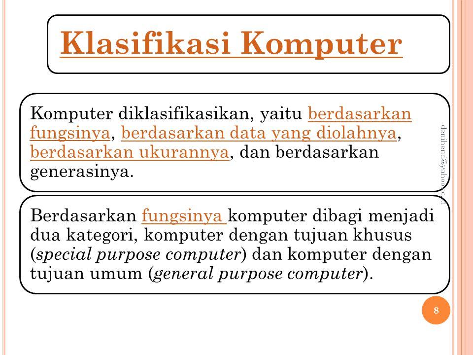 denihend@yahoo.co.id Klasifikasi Komputer