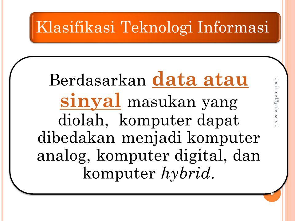 Klasifikasi Teknologi Informasi