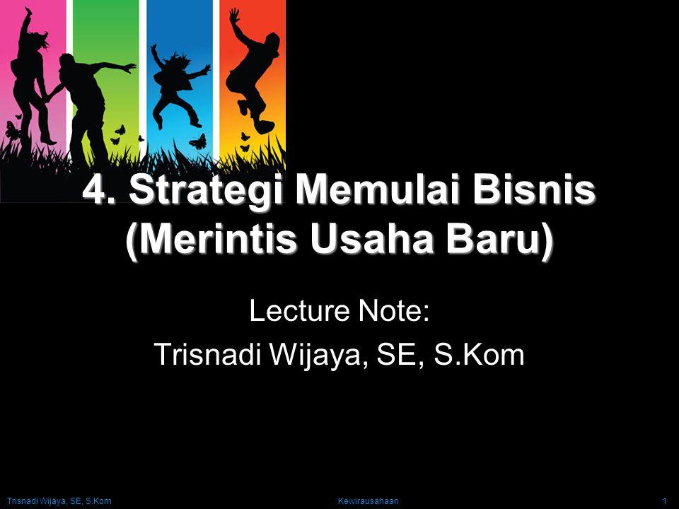 4. Strategi Memulai Bisnis (Merintis Usaha Baru)