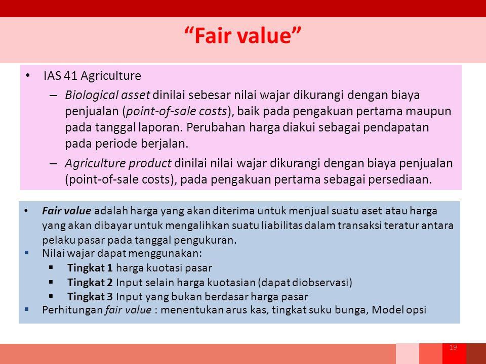 Fair value IAS 41 Agriculture