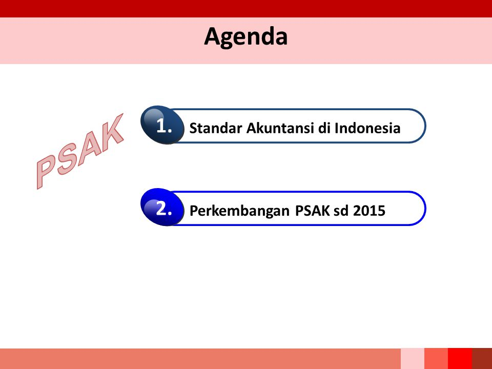 PSAK Agenda 1. 2. Standar Akuntansi di Indonesia