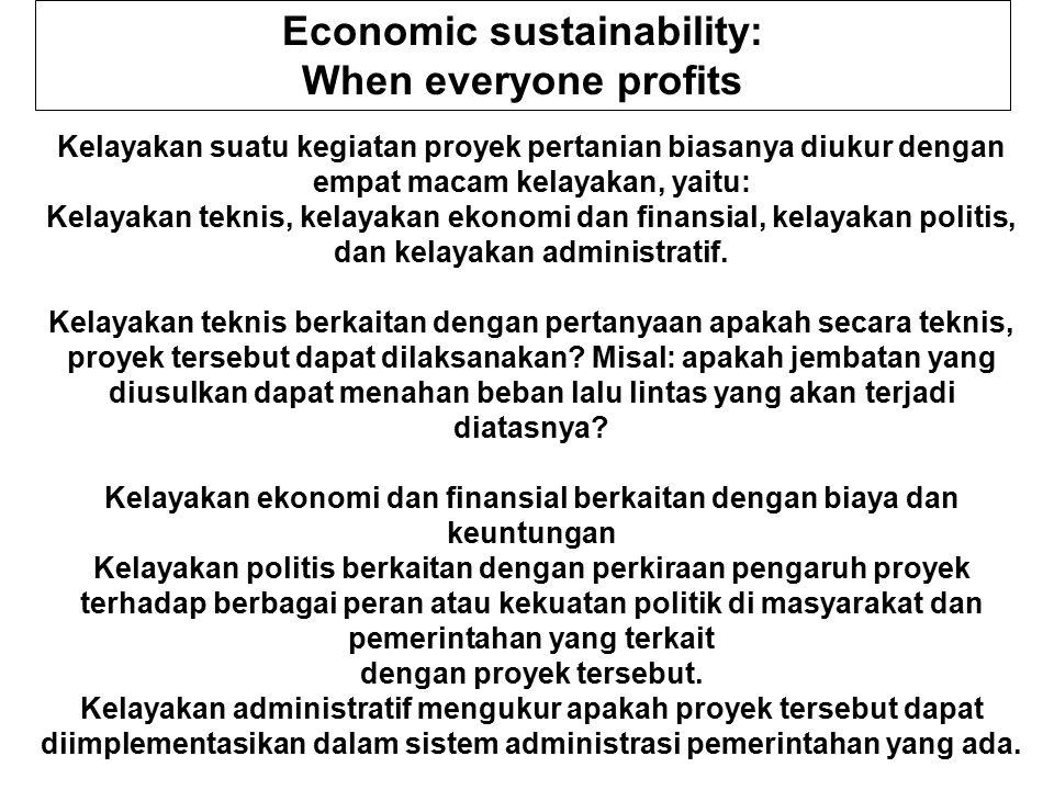 Economic sustainability: When everyone profits