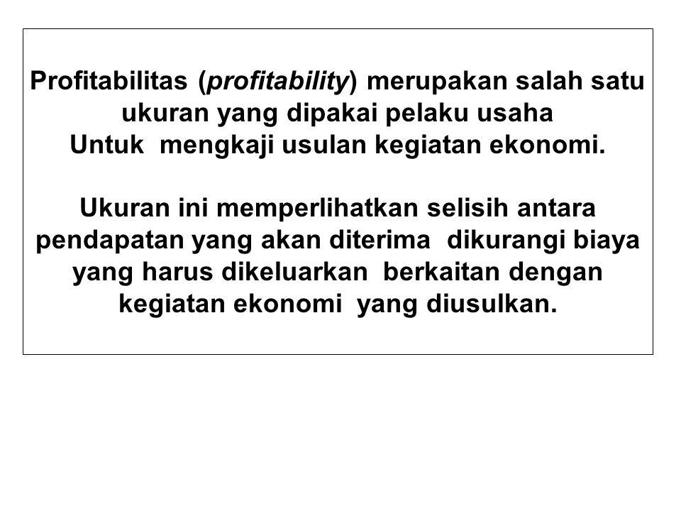 Untuk mengkaji usulan kegiatan ekonomi.