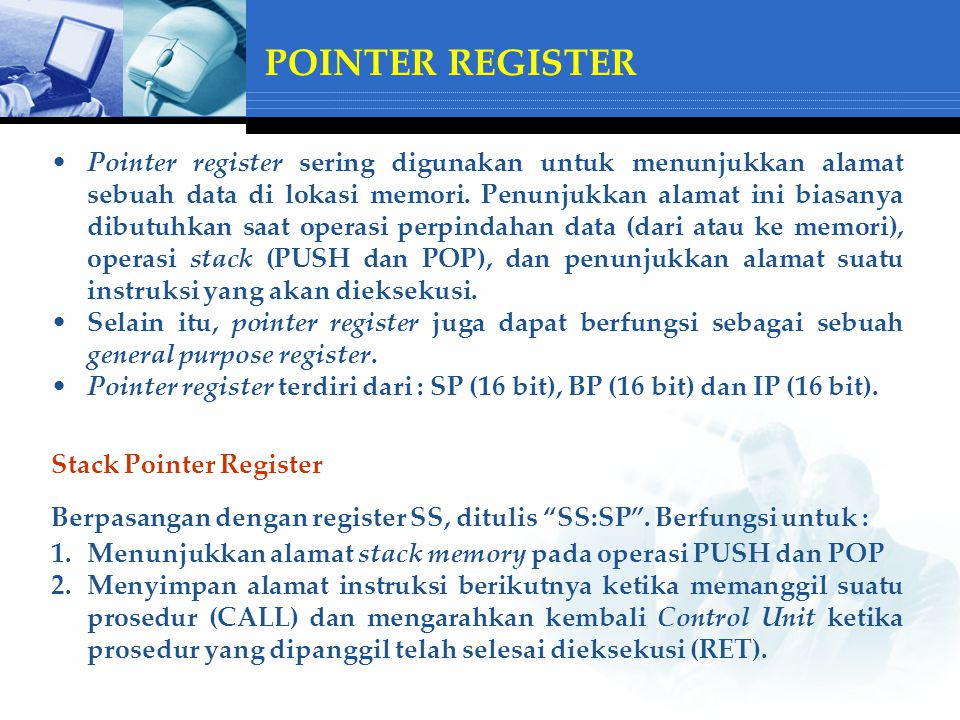 POINTER REGISTER