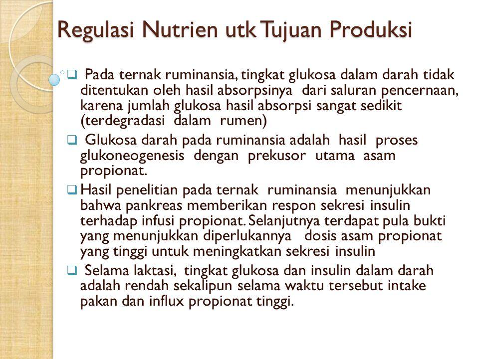 Regulasi Nutrien utk Tujuan Produksi