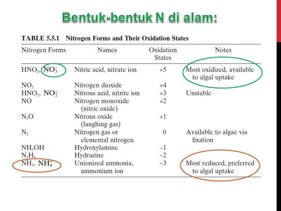 Bentuk-bentuk N di alam: