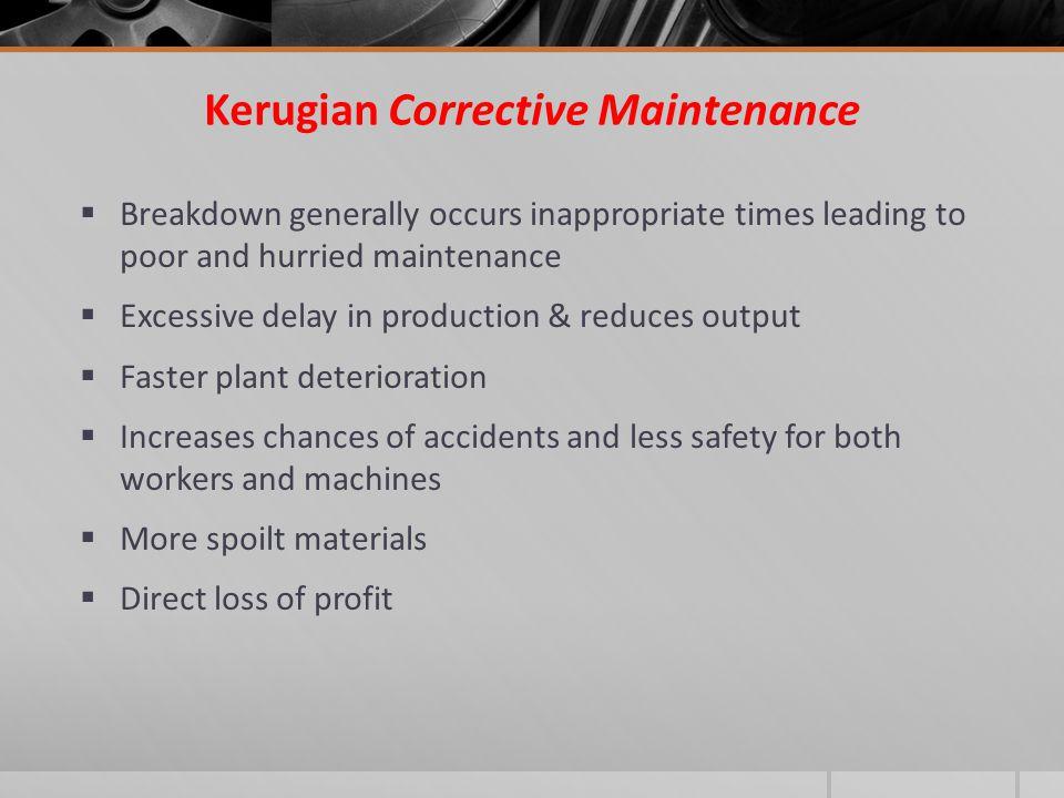 Kerugian Corrective Maintenance