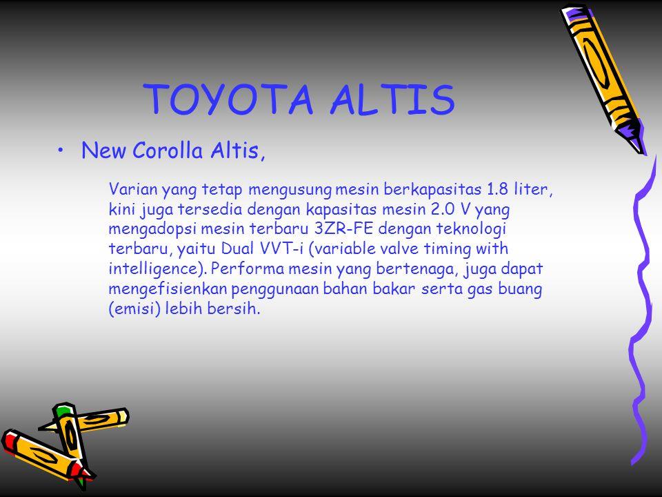 TOYOTA ALTIS New Corolla Altis,