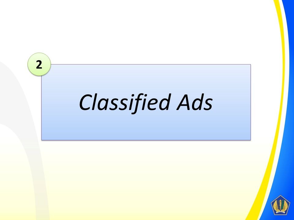 2 Classified Ads