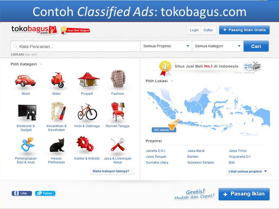 Contoh Classified Ads: tokobagus.com