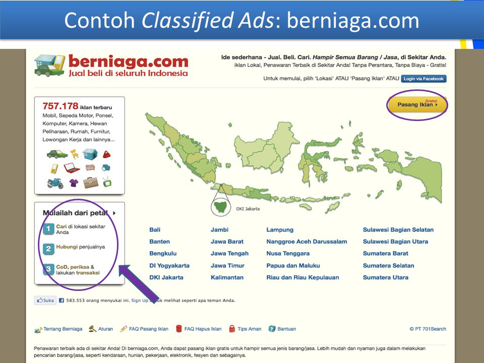 Contoh Classified Ads: berniaga.com