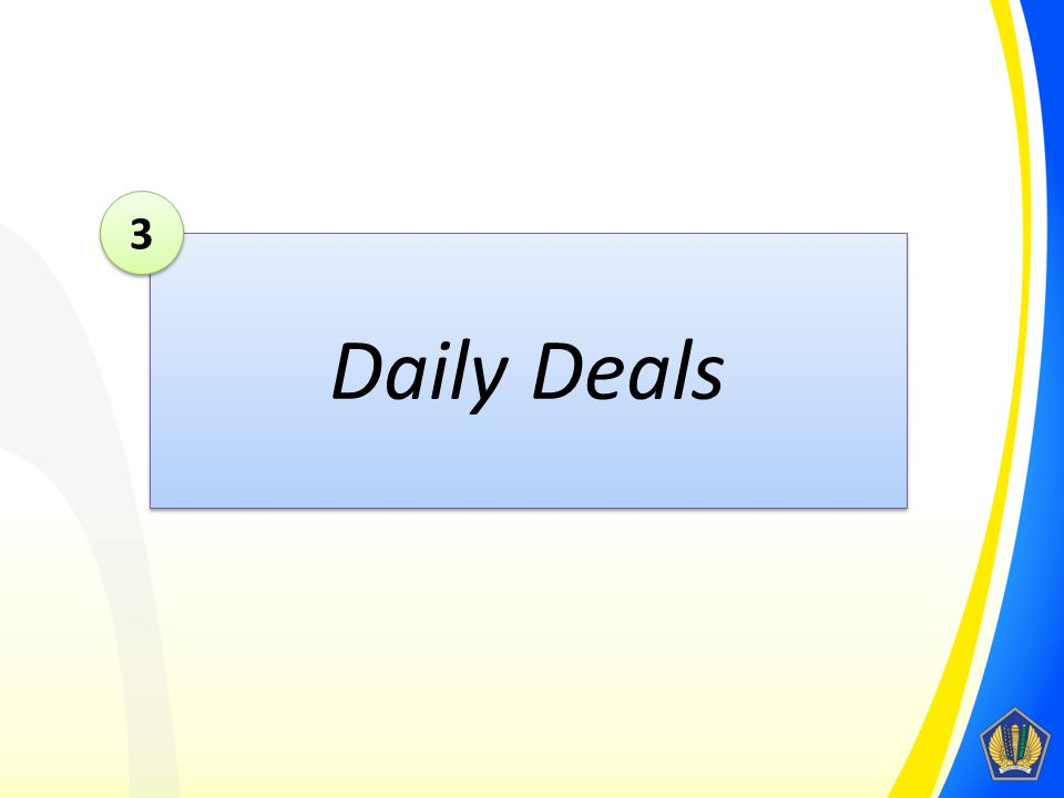 3 Daily Deals