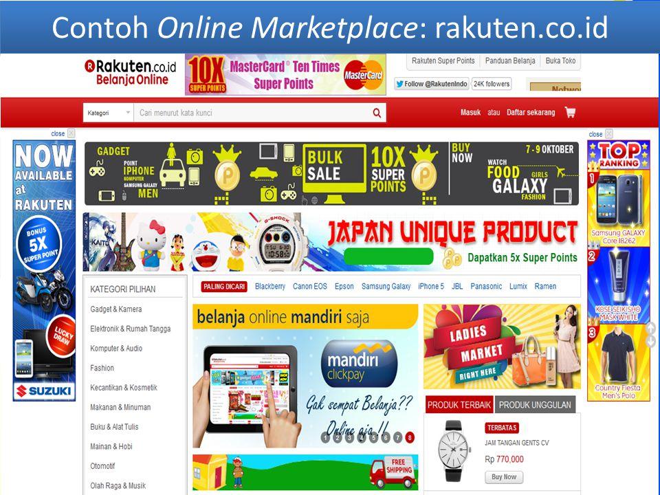 Contoh Online Marketplace: rakuten.co.id