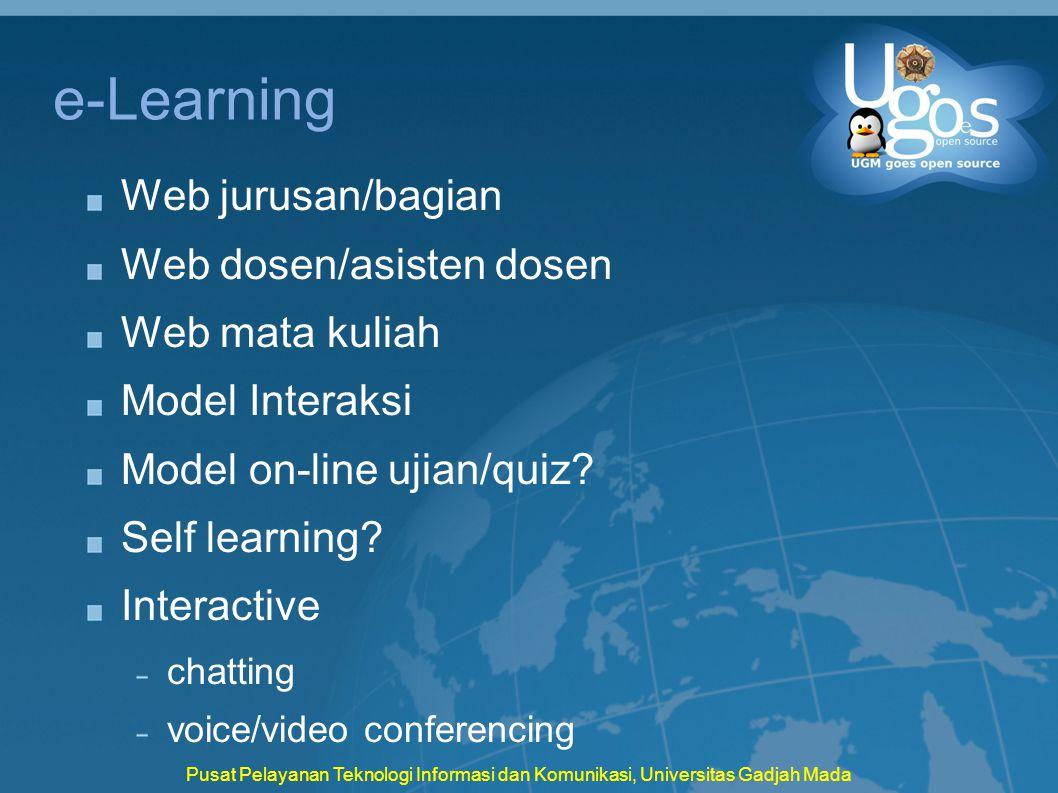 e-Learning Web jurusan/bagian Web dosen/asisten dosen Web mata kuliah