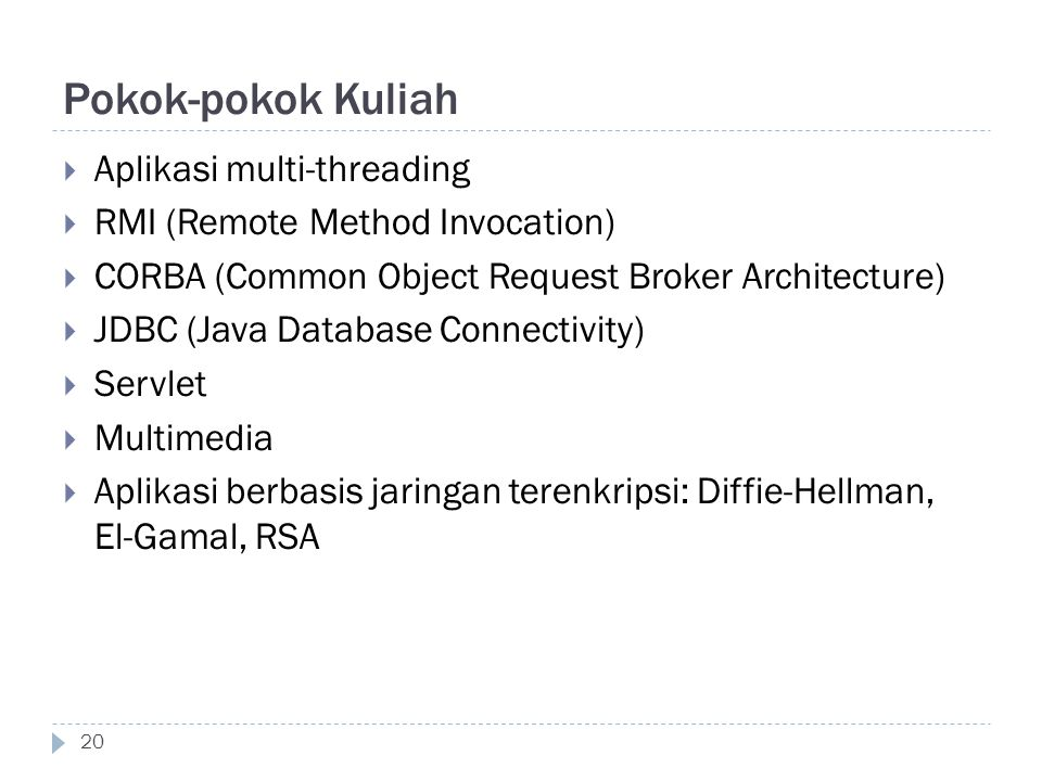 Pokok-pokok Kuliah Aplikasi multi-threading